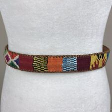 Vintage Multicolor Belt Womens Size Medium