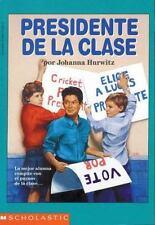 Presidente de la Clase, Hurwitz, Johanna, 0590473999, Book, Good