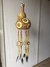 Lampe Oshun Orisha Lamp Kalabash Kürbis Unique Afrika Ochun Nature Gelb