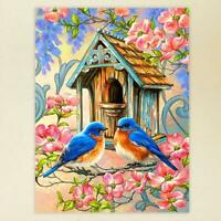 Bird Flowers DIY Full Drill 5D Diamond Painting Cross Stitch kit Home Decor