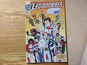 1993 DC COMICS LEGIONNAIRES # 1 SIGNED BY KARL STORY WITH POA