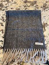 Vintage Made In Italy Scarf 75% Wool 25% Alpaca Herringbone Pattern