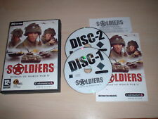 SOLDIERS HEROES OF WORLD WAR II PC GAME PC CD-ROM 12+ FREE P&P FAST DISPATCH