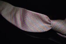#1 MENSWEAR LNWOT Drakes Made in England Silk Cotton Rainbow Tweed Grenadine Tie