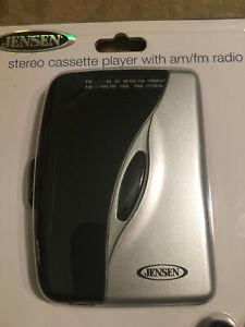 BRAND NEW Jensen SCR-68B Walkman AM FM Stereo Cassette Tape Player Sealed