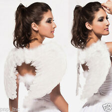 White Feather Wings Sexy Angel Fairy Halloween Costume Accessory Fancy Dress USA