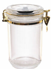 Acrylic Cigar Humidor Display Jar with Humidifier Holds 25 Cigars New