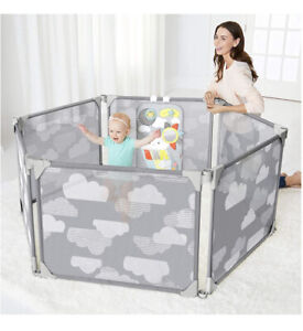 Skip Hop Baby Gate: Expandable or Wall Mounted Playpen with Clip-On Play Surface