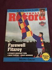 VFL / AFL 1996 Football Record Geelong V Carlton