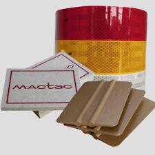 10m Weiss Gelb Rot Diamond Grade Scotchlite 983 + Mactac Filzrakel, 3M Goldrakel