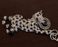 Effy Gem Leopard Cheetah Key Ring Cat Spotted Keychain