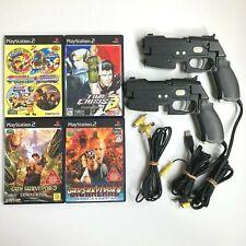 Lot PS2 Guncon 2 Controller + Time Crisis Gunvari Collection Gun Survivor Japan