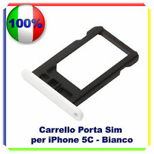 SLOT PORTA SIM TRAY PORTA SCHEDA VASSOIO PER  IPHONE 5C BIANCO