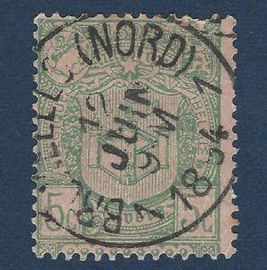 1894 BRUSSELLS (NORD) SON 90% CENTERED POSTMARK BELGIUM 5C STAMP