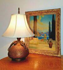 c1920-30s Antique Art Deco Olive Kooken Nude Figural Nymph Lamp by Armor Bronze