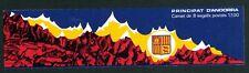 1987 Andorra French Booklet:, Coat of Arms,Scott #330a VF MNH & OG CV=$10