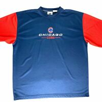 Lee Sport Chicago Cubs Wicking Pullover T-Shirt Mens 2XL Vtg 90s Blue Red