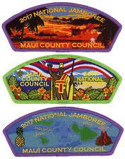 2017 Boy Scout Jamboree Maui County Council JSP CSP Patch Set Lot BSA Hawaii
