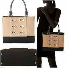 RARE Kate Spade Beantown Quinn Epire Beige Black Gold Hardware Handbag Purse Bag