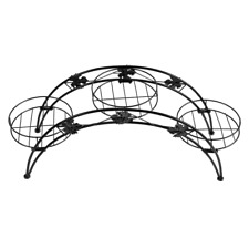 Levede UM1174-BK Outdoor/Indoor Metal Flower Plant Stand