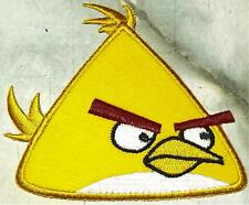 Iron On/ Sew On Embroidered Patch Badge Angry Bird Yellow