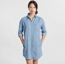 NWOT Everlane Long Sleeve Denim Shirt Dress Light Blue Medium