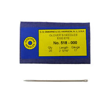 C.S. Osborne Pack Of 25 Glover's Needles #518 (518-000) Size 000 Made In USA