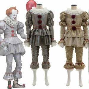 Boys Kids Stephen King's It Pennywise Clown Halloween Cosplay Men Costume Outfit