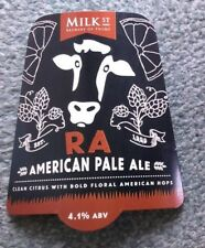 NEW Beer pump clip badge front MILK STREET brewery RA American Pale Ale Frome