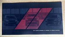 2017 Dodge Durango Journey Grand Caravan 72-page Original Sales Brochure Catalog