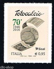 ITALIA 1 FRANCOBOLLO TOTOCALCIO SISAL 2016 nuovo**
