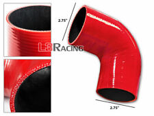 "RED Elbow 2.75"" 70mm 4-ply Silicone Coupler Hose Turbo Intake Intercooler Chev2"