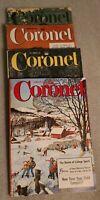 4 Coronet Magazine January, February 1956 + October 1952 + September 1951