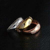 Women Crystals Gift New Fashion Jewelry Ring Finger 18k Gold Plated CZ Zircon