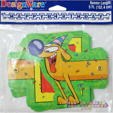 CATDOG HAPPY BIRTHDAY BANNER ~ Vintage Party Supplies Room Decorations Nick