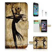 ( For iPhone 7 Plus ) Wallet Case Cover P1369 Nightmare Christmas