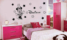 DISNEY MINNIE MOUSE WALL ART STICKERS, PERSONALISED GIRLS NAMES,DECALS MURALS