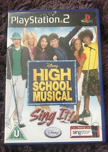 High School Musical Sing It Sony PlayStation 2 2007 European Version W/M