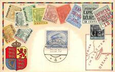 MAURITIUS STAMPS + AUSTRIA SCOTT B7 SEMI-POSTAL MAP PATRIOTIC POSTCARD 1916