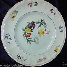 "KENSINGTON PROVINCIAL ENGLAND 10"" DINNER PLATE BEAD EDGE FLOWERS ON GREEN"