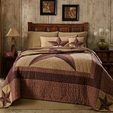 Landon Red, Brown, Tan Country Star Luxury King Queen Twin Quilt