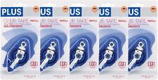 5 of PLUS Glue Tape Adhesive Permanent Refill Cartridge 1/3