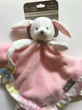 Blankets and Beyond Nunu  Pink Bunny Blankie  Pacifier Holder  NEW