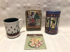 Mary Engelbreit Christmas Trees Collector Mug/Me Christmas Tins/Me Magnet