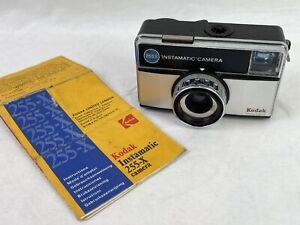 Vintage KODAK Instamatic Camera 255-X Retro Film Cartridge Black Case Strap N53