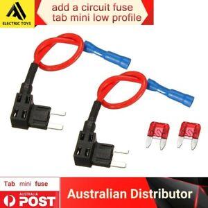 2 x Add a Circuit ACU Piggy Back Tap Mini Blade Fuse Holder 5A AU Local post