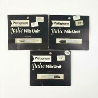 Lot of (3) Vintage Platignum Italic Nib Unit - Italic Medium B3 Italic Fine