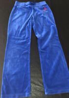 JUICY COUTURE GIRLS VELOUR TRACK PANTS BLUE size Girls XS/S