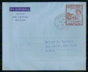 MayfairStamps St. Kitts 1955 Basseterre to Sea Cliff New York Aerogramme wwk5112