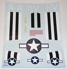 Cox Micro Warbird Decal Set: P-47 Thunderbolt with Invasion Stripes